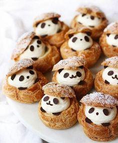 Cute Desserts, Dessert Recipes, Delicious Desserts, Fruit Dessert, Cake Recipes, Cream Puff Recipe, Cute Baking, Kawaii Dessert, Cafe Food