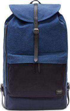 Porter - Blue Denim Colorblock Rucksack