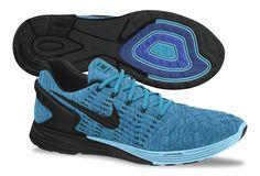 697d213fde9a9 Nike Flyknit LunarGlide 6 Dark Royal Black Nike Flyknit
