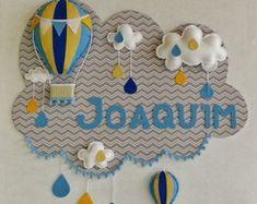 Painel PORTA MATERNIDADE Balão 4 Feltro
