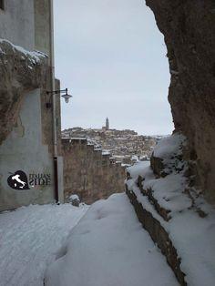 Snow in Matera