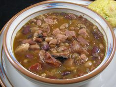 Slow Cooker Ham And Mixed Bean Soup
