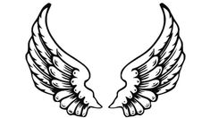 Free for personal use Dark Angel Wings Drawing of your choice Easy Drawings, Pencil Drawings, Alas Tattoo, Angel Wings Drawing, Best Pencil, Creation Art, Clip Art, Fairy Wings, Art Clipart