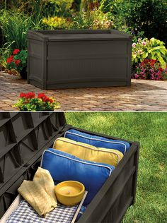 Keep your outdoor accessories organized and dry this season with a durable Deck Box from Suncast.