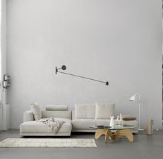 Luceplan Spa, Counter Balance Wall light (in the middle) available at DREAM Interiors! We are so excited about our Luceplan lights so do come by and have a look :) Heidi Lerkenfeldt:::Interieur | stillstars.com