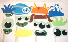 Large 15 piece Monsters Inc  Birthday Party Photo Props