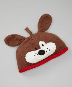 Take a look at this Brown Dog Beanie by Zubels on #zulily today!