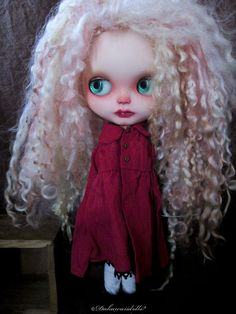 Blythe Doll outfit / Dress 1/6 doll size /Coat by Dakawaiidolls, $45.00