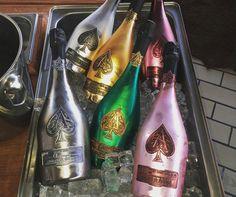 Ace of spades bottles Ace of spades bottles Gold Bottles, Liquor Bottles, Ace Of Spades Bottle, Armand De Brignac, Spade Champagne, Alcohol Aesthetic, Dom Perignon, Easter Dinner Recipes, Luxury Lifestyle