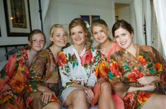 Real life Sample - Bridesmaids Robes made From D11 Fabric Pattern