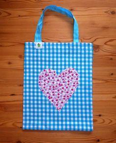 Stofftasche aus Baumwolle mit Herz 12 € Nr. 203