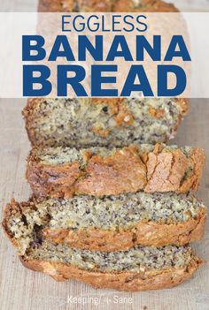 This is the perfect eggless banana bread when you have ripe bananas. Make sure to save this recipe so you can have it for breakfast, brunch or a snack. Eggless Banana Bread Recipe, Ripe Banana Recipe, Eggless Desserts, Eggless Recipes, Eggless Baking, Easy Banana Bread, Banana Bread Recipes, Vegan Baking, Delicious Desserts