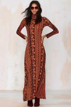 Raga Desert Days Turtleneck Maxi Dress