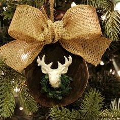 Deer Head Christmas Ornament - Uncommon Designs featured on DETAILS  http://carolynsdetails.blogspot.com/
