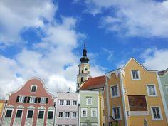 The old Bavarian city of Schärding, Upper Austria