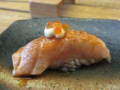 Nigiri de salmon