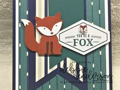 Debbie's Designs: True Gentleman Suite of Products Foxy Friends Punch, Boy Cards, Men's Cards, Birthday Cards For Men, Stamping Up Cards, Fathers Day Cards, Animal Cards, Cards For Friends, Card Sketches