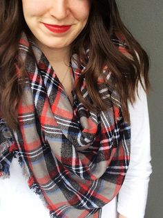 Flannel Blanket Scarf DIY by Bunny Baubles Blog 7