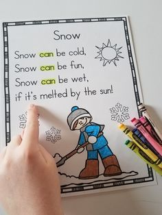 Winter Emergent Readers and Shared Reading Poems