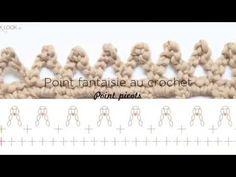 Picot Crochet, Crochet Borders, Le Point, Crocheting, Couture, Diy, Pom Poms, Dots, Needlepoint