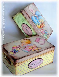 pudełka decoupage dla dzieci