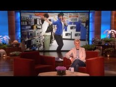 More of Ellen's Dance Dares-- if you are bored you should look up all the dance dares on ellen's youtube channel. HILARIOUS!