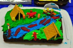 boy scout decorated cake - Google Search