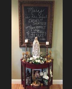 243 Best Catholic Home Altars Images Prayer Corner Catholic