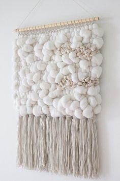 White Weaving Yarn Selection Wool for Woven Wall Hangings Weaving Yarn, Tapestry Weaving, Tapestry Wall Hanging, Wall Hangings, Unique Wall Decor, Wall Art Decor, Decoration Gris, Weaving Wall Hanging, Boho Diy