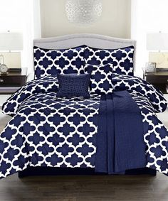 Navy Blue Cameron Comforter Set