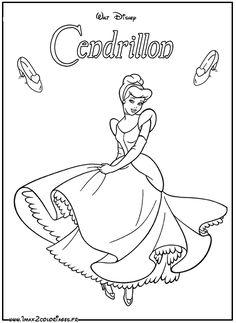 Les 23 meilleures images de Coloriage : Cendrillon en 2017   Cinderella, Cinderella coloring ...