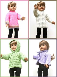"""18"""" Doll Sweaters Collection One"""