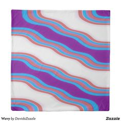 Wavy Duvet Cover Also available in Twin and King!  Available on many more designs! Type in the name of this design in the search bar on my Zazzle Products page!  #wavy #wave #home #decor #bed #bath #decorate #bathroom #bedroom #buy #sale #zazzle #forsale #line #purple #red #blue #abstract #abstraction #stripes #ripple #cool #chic #contemporary #modern #style #life #style #college #dorm #apartment #duvet #cover #queen #king #twin