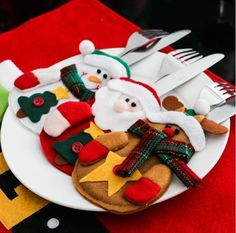 3Pcs/Lot Christmas Decoration 2016 Cutlery Suit  Holders Pockets Knife #Unbranded