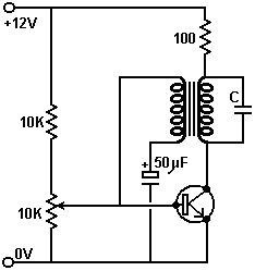 Simplest DC to AC inverter circuit using 2 Phase primary 1