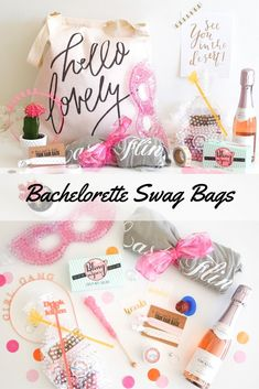 The cutest bachelorette party swag bags