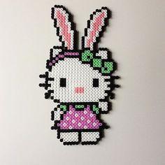 #hellokitty #nursery #hama #hamabeads #children #bunny #girly #kitty #børneværelse #homemade #pink #followmeformore #easter #easterbunny #pige #kreativ #denmark