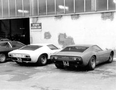 vintageclassiccars: At the factory again and the bloody Miura again.