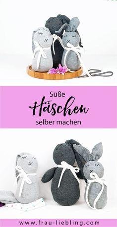 Eine süße Geschenkidee: DIY Socken Hasen ganz einfach selber machen. Upcycling Idee und DIY Tutorial für süßes Kinderspielzeug oder liebevolle Deko Idee.