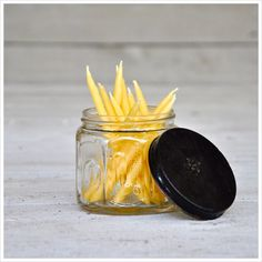 Have your cake and eat it too! No toxic drips from these candles! Beeswax Birthday Candles: Pack of 12 Hand Dipped Yellow Beeswax Mini Tapers