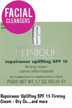 (This is an affiliate pin) Repairwear Uplifting SPF 15 Firming Cream - Dry Combination To Oily Skin by Clinique for Unisex Firming Cream, Facial Cleansers, Facial Treatment, Oily Skin, Unisex, Oil Control