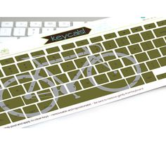 Green Bike keyboard sticker decal keycals by kidecals on Etsy