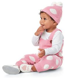 would be cute with the boy's blue stripe one! pastel dot overalls on sale for $40
