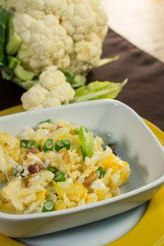 Low-Carb Loaded Cauliflower Casserole   FaveHealthyRecipes.com