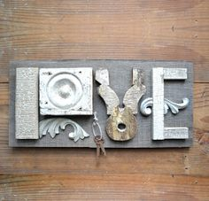 love sign architectural salvage typography