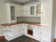Hand painted pine MFI kitchen in Lancaster
