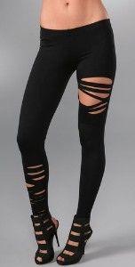 Half ripped leggins