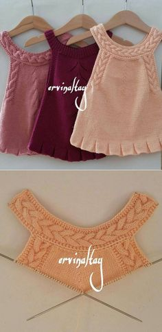 Stricken This Pin was discovered by Mildred Del Castillo Càrdenas. Discover (and save! Crochet Vest Pattern, Baby Knitting Patterns, Knitting Designs, Baby Patterns, Knit Crochet, Crochet Patterns, Knitting Ideas, Crochet Ideas, Free Pattern