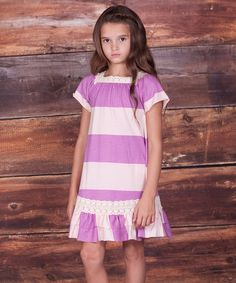 This Light Purple Alexa Tiered Ruffle Dress - Infant, Toddler & Girls by Jelly the Pug is perfect! #zulilyfinds