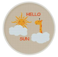 Hello Sun Cross stitch pattern Counted cross by MagicCrossStitch